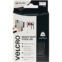 VELCRO® Brand Heavy Duty Stick-On Strips - White - 2 Pack