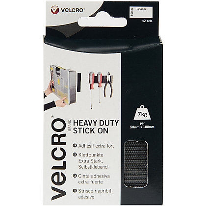 Image for Velcro Heavy Duty Stick-On Strips - White - 2 Pack from StoreName