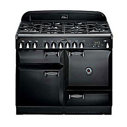 Image for Rangemaster Elan 73220 110cm Dual Fuel Cooker - Black & Chrome from StoreName