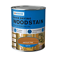 Homebase Quick Drying Woodstain Antique Pine - 750ml