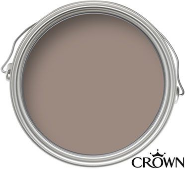 Crown Fashion For Walls Chocolate Suede - Suede Matt Emulsion Paint - 125ml Tester
