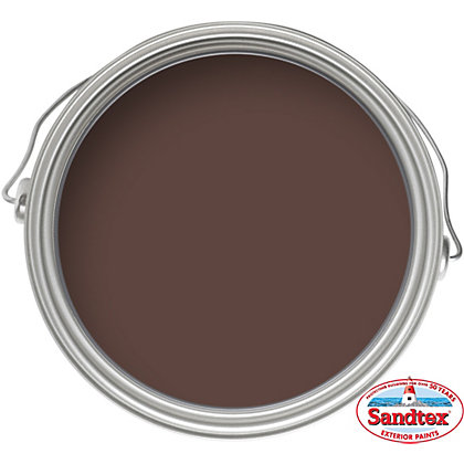 Image for Sandtex Chestnut Brown - High Performance Gloss Paint - 750ml from StoreName