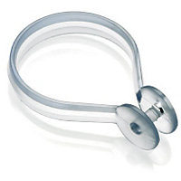 Button Shower Curtain Rings - Clear - 12 Pack