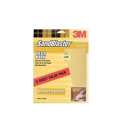 Image for 3M SandBlaster Fine P240 Sandpaper - 8 pack from StoreName
