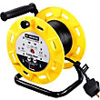 4 Socket 10A Open Reel with Power Switch - 20m