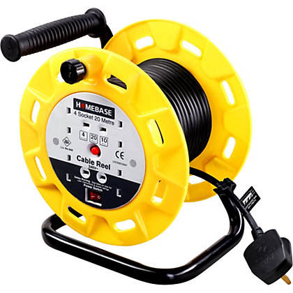 Image for 4 Socket 10A Open Reel with Power Switch - 20m from StoreName