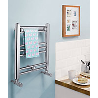 Romano Electric Heated Towel Rail - 406 x 450mm - Chrome