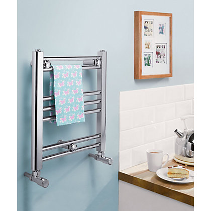 Image for Romano Electric Heated Towel Rail - 406 x 450mm - Chrome from StoreName