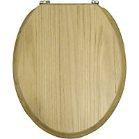 Solid Oak Tongue And Groove Toilet Seat