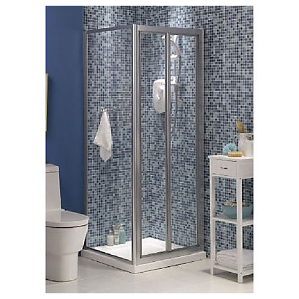 Image for Haze Bi-fold Shower Enclosure and Tray - Silver - 760 x 760mm from StoreName