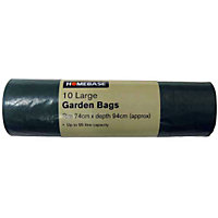 Essentials Large Garden Sacks - Green - 10 Pack