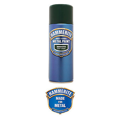 Image for Hammerite Dark Green - Exterior Smooth Aerosol Paint - 400ml from StoreName