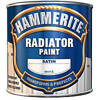 Hammerite Black - Satin Radiator Paint - 250ml