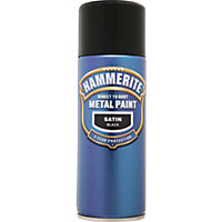 Hammerite Black - Satin Radiator Paint - 400ml