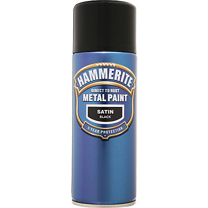 Image for Hammerite Black - Satin Radiator Paint - 400ml from StoreName
