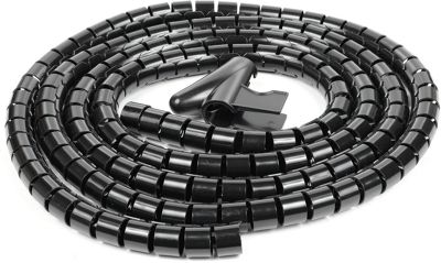 Schneider IMT70004 Electric Cable Tidy - Black - 2.5m