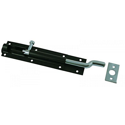 Image for Cranked Tower Bolt Black - 102mm from StoreName