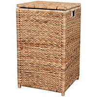 Square Natural Linen Bin