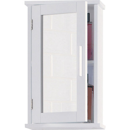 mirrored bathroom wall cabinet white