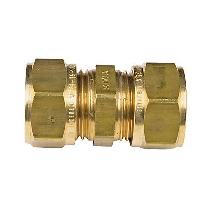 Image for Compression Connector - Brass - 15mm from StoreName