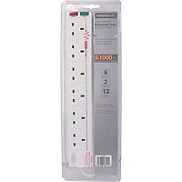 Surge Protected Extension Lead - 6 Socket - 2m