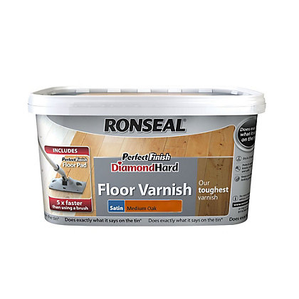 Image for Ronseal Perfect Finish Diamond Hard Floor Varnish Medium Oak - 2.5L from StoreName