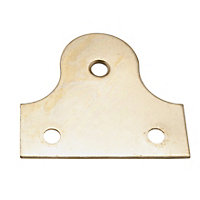 Picture Frame Plain Bracket - Brass Effect - 50mm - 2 Pack