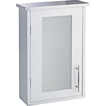 Hygena insert bathroom wall cabinet white for Homebase kitchen cabinets