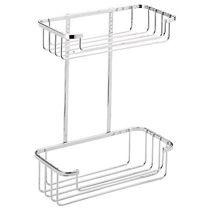 Image for Bathroom Tidy 2 Tier Cosmetic Basket - Chrome from StoreName