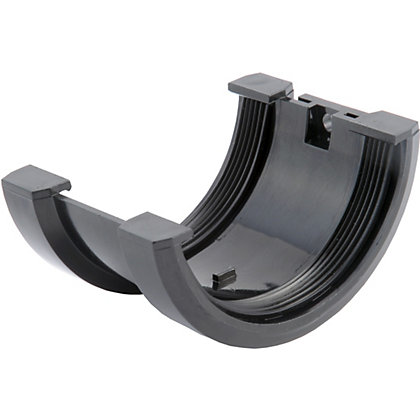 Image for 76mm Half Round Joint Bracket - Black from StoreName