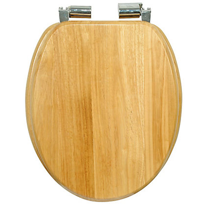 Image for Natural Oak Effect Soft Close Toilet Seat from StoreName