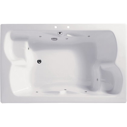 Image for Melbury Double Bath - Silver Whirlpool from StoreName