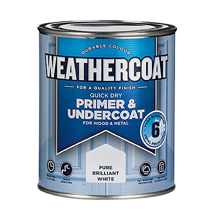 Image for Weathercoat Quick Dry Primer Undercoat - Pure Brilliant White - 750ml from StoreName
