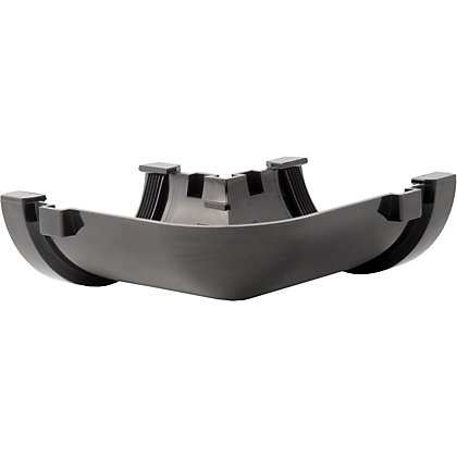 Image for 76mm Half Round 90 Degree Angle - Black from StoreName