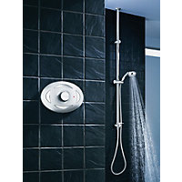 Triton Digital Mixer Shower With Riser Rail Kit - Unpumped