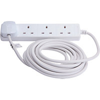 Extension Lead - 4 Electrical Sockets - 5 Metres