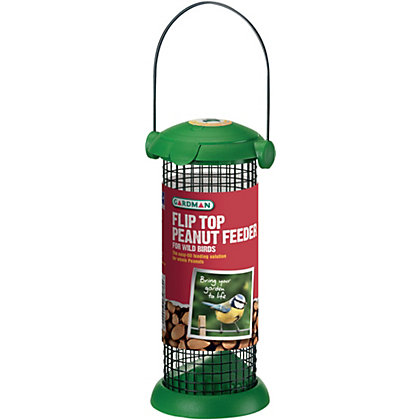 Image for Gardman Green Flip Top Nut Bird Feeder from StoreName