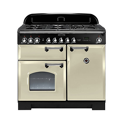 Image for Rangemaster Classic Deluxe 100cm Dual Fuel Range Cooker - Cream from StoreName