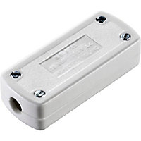 13A 3 Core Flex Connector - White