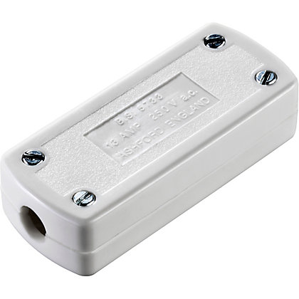 Image for 13A 3 Core Flex Connector - White from StoreName
