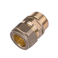 Compression Straight Male Connector - 15mm - 0.5in