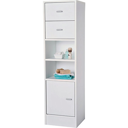 Ladder storage unit for Homebase bathroom storage units