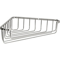 Bathroom Tidy Wire Corner Basket - Chrome