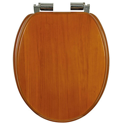 Image for Antique Pine Effect Soft Close Toilet Seat from StoreName