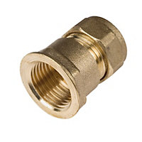 Compression Straight Female Connector - 15mm-0.5in - 5 Pack
