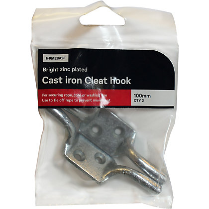 Image for Cleat Hook ZP - 100mm - 2 Pack from StoreName