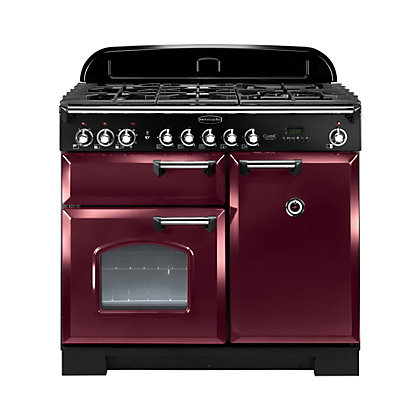 Image for Rangemaster Classic Deluxe 100cm Dual Fuel Range Cooker - Cranberry from StoreName
