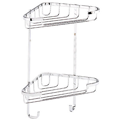 Image for Croydex 2 Tier Corner Basket - Small from StoreName