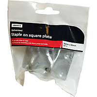 Staple On Plate Galv - 35 x 50 mm - 2 Pack