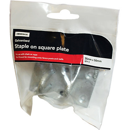 Image for Staple On Plate Galv - 35 x 50 mm - 2 Pack from StoreName